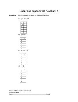 compound interest formula worksheet linear and exponential functions lesson 9 of variables. Black Bedroom Furniture Sets. Home Design Ideas