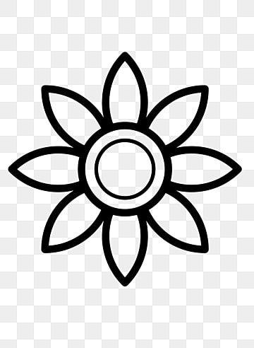 Gambar Tanaman Bunga Bunga Lukisan Garis Hitam Tanaman Bunga Bunga Png Dan Psd Untuk Muat Turun Percuma Bunga Menggambar Bunga Matahari Bunga Matahari