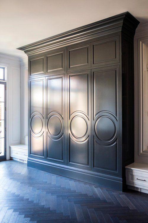 Leo Designs Parisian Lincoln Park Kitchen Mud Room Circle Door Moulding Herringbone Floor Armoire Fro Cabinet Door Styles Cabinet Doors Chicago Interior Design