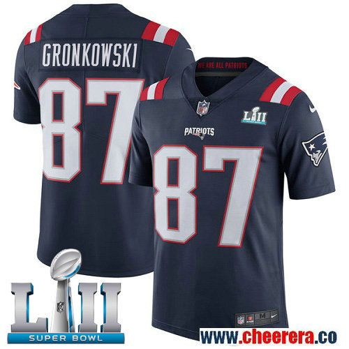 Nike Patriots 87 Rob Gronkowski Navy 2018 Super Bowl Lii Color Rush Limited Jersey Gronkowski Jersey Patriots Nfl New England Patriots