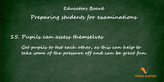 Preparing students for examinations tips (tip 15)