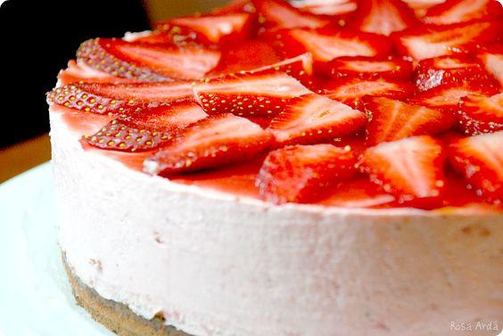 Tarta de fresas velocidad cuchara thermomix recetas for Postres de cuchara