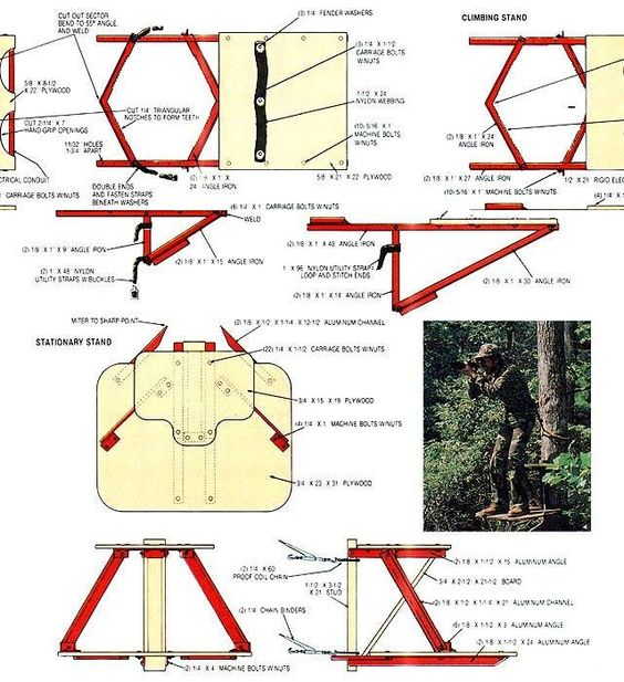 Build a hunting tree stand trees tree stands and mothers for Build your own tree stand