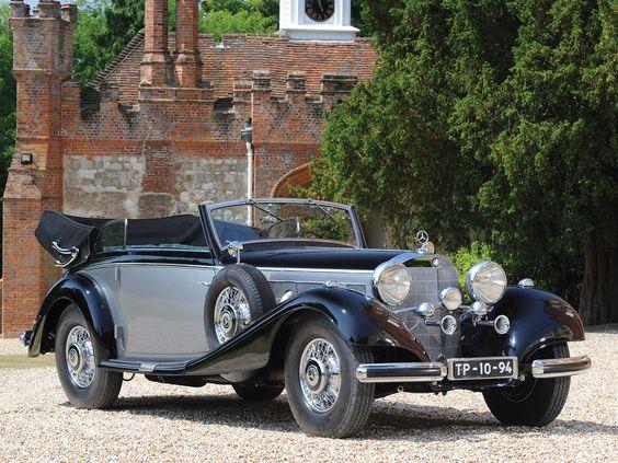1937 Mercedes Benz 540 K Cabriolet B retro de lujo