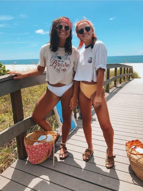 fotos com amigas viagem satisfação