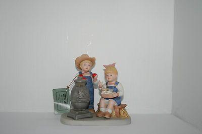 Homco Home Interiors Denim Days Autumn Evening 1985 Figurine 1517 Warm Stove | eBay