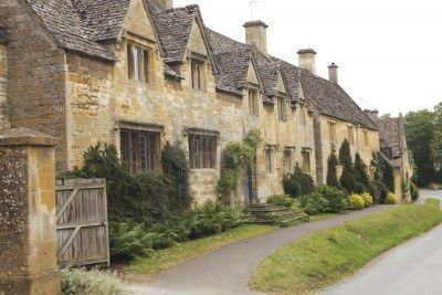 Beautiful English cottages in the Cotswolds