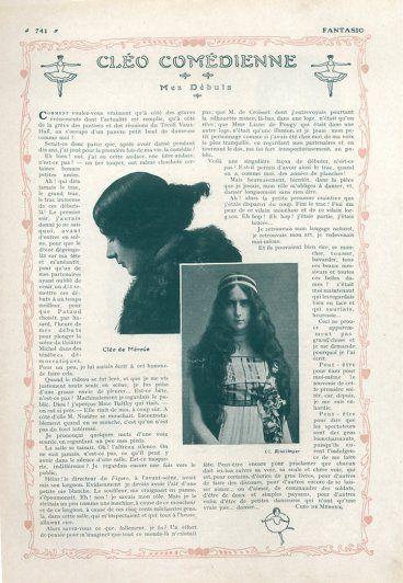 Cléo De Mérode 1909 Article