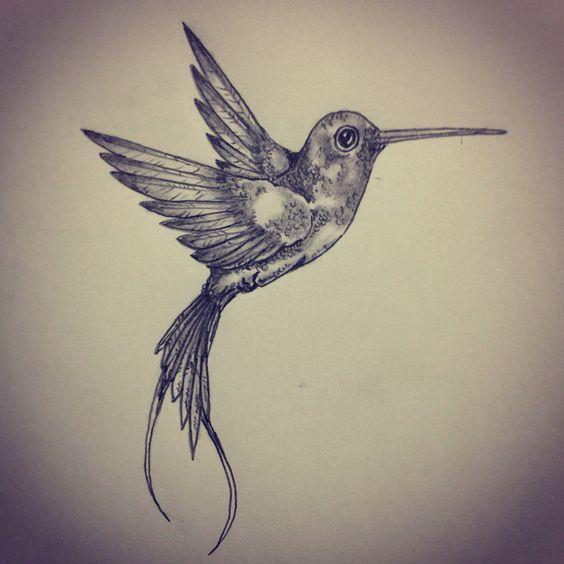Hummingbird tattoo sketch by - Ranz