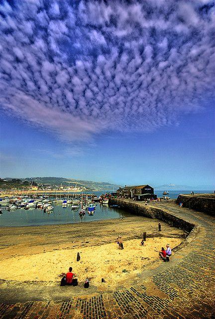 Lyme Regis Harbour, Dorset, England. Our tips for rhings to do in Dorset: http://www.europealacarte.co.uk/blog/2012/10/19/what-to-do-dorset/
