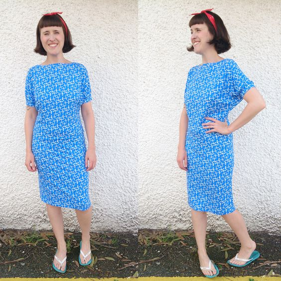 Anchor print short sleeved dress version by Zoe (So Zo):