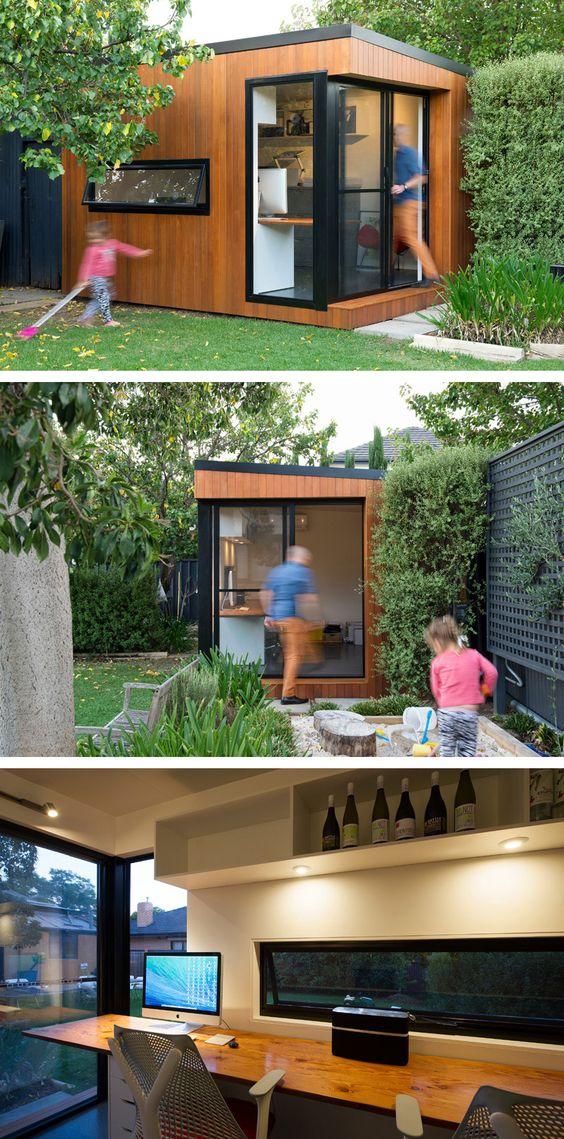 Inoutside Creates A Small Backyard Office