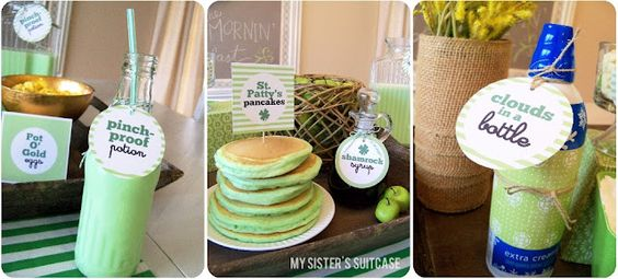 cute st patrick's day breakfast ideas - along with free printables!