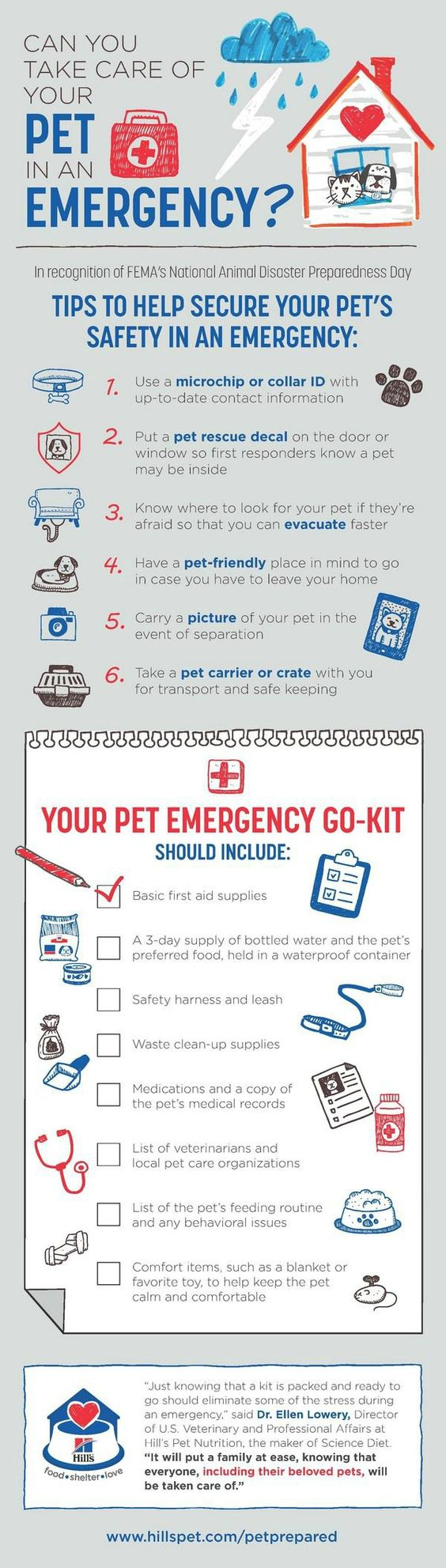 Infographic: Can You Take Care of Your PET in an Emergency, Be #PetPrepared #HillsPet #ad
