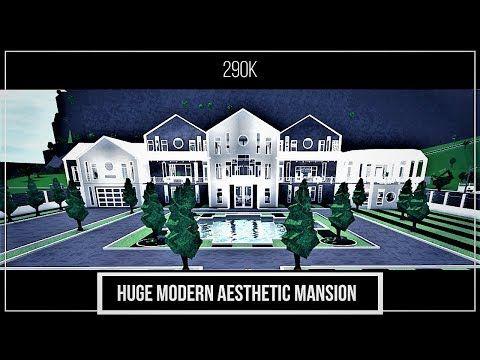 Huge Modern Aesthetic Mansion Ii Version 2 290k Ii Bloxburg Speedbuild Youtube Mansions Huge Mansions Cute House