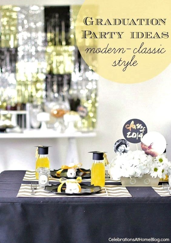 GRADUATION PARTY IDEAS :: MODERN-CLASSIC STYLE #graduationparty