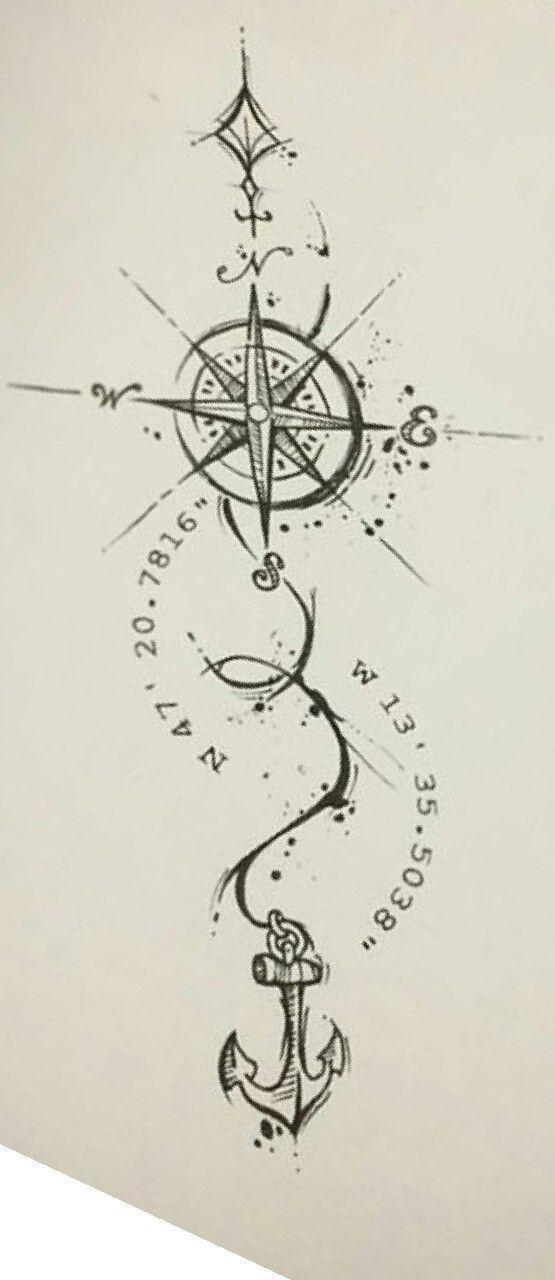Schwarz Windrose Isoliert Auf Schwarz Kompass 15