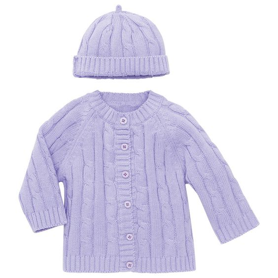 Cable Knit Sweater and Hat - 6 Months