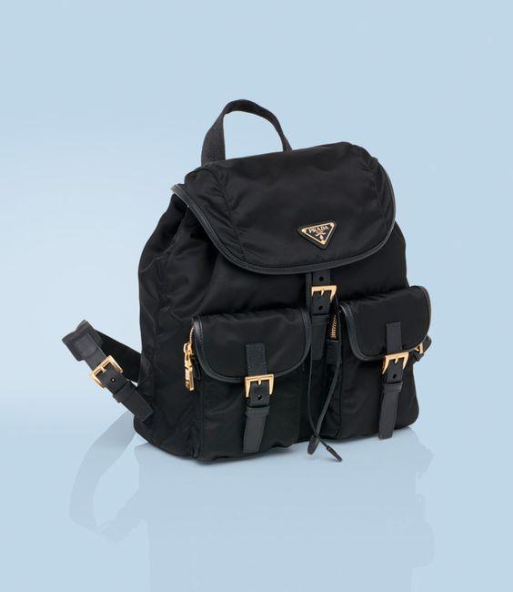 replica prada handbags uk - $795 VELA FABRIC BACKPACK WITH SAFFIANO CALF LEATHER TRIM GOLD ...