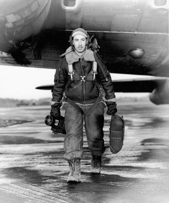 Image result for wartime photo b 17 crew in flying helmet