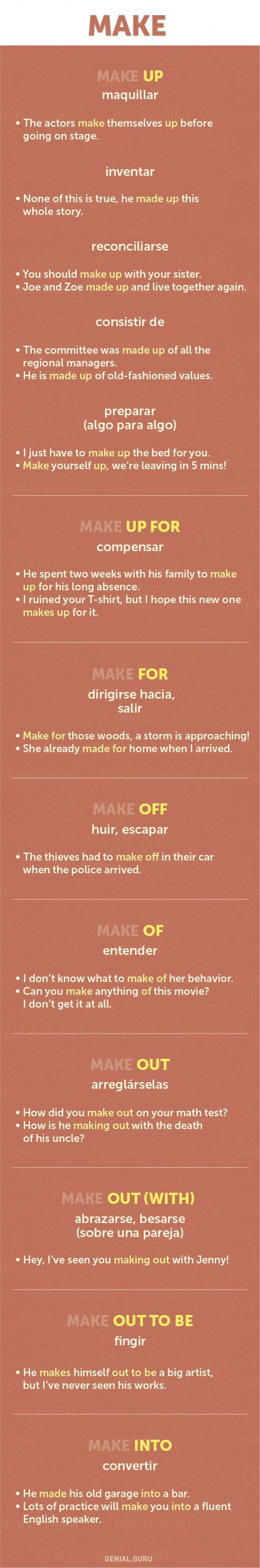 60+ frases con los verbos más necesarios en Inglés #english #phrasalverbs #make
