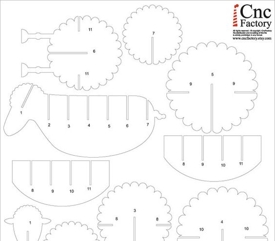 cardboard sheep template cutting files cuttings and sheep on pinterest