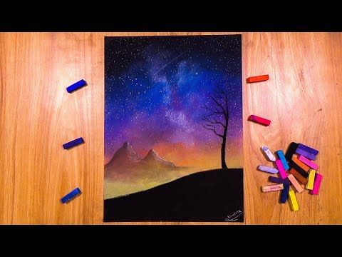 Drawing A Galaxy With Soft Pastels Khudair Alshehi Arts Youtube In 2021 Art Soft Pastel Drawings