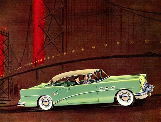 Plan59 :: Classic Car Art :: Vintage Ads :: 1954 Buick Century: