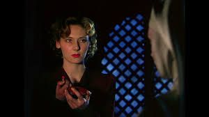 All hell breaks loose after Sister Ruth breaks out the lipstick in Michael Powell and Emeric Pressburger's Black Narcissus.