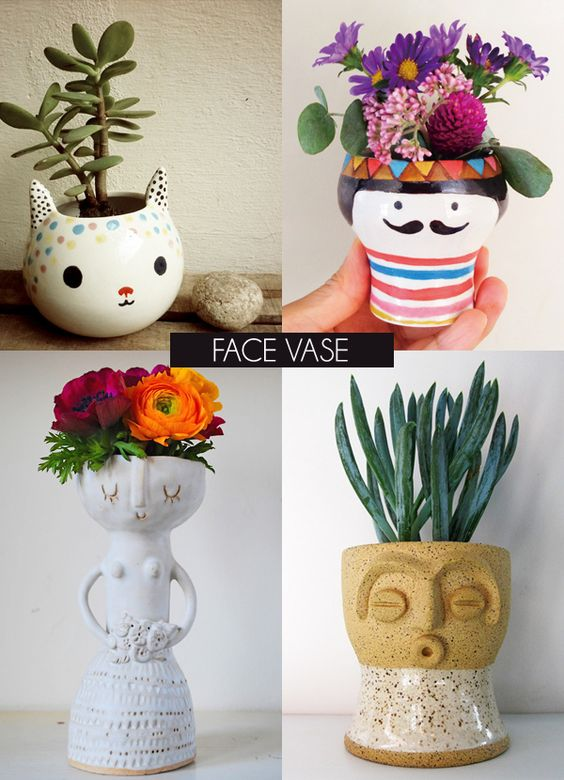 Faces Vases And Vase On Pinterest