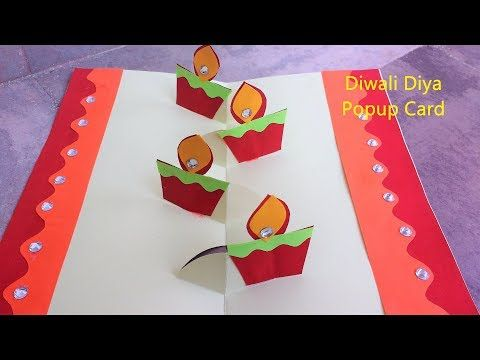 Diwali Popup Card Easy Popup Card Youtube Diwali Cards Diwali Greeting Cards Deepavali Greetings Cards