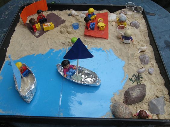 """Another """"day at the beach"""" small world play.  Featured by Special Learning House. www.speciallearninghouse.com."""