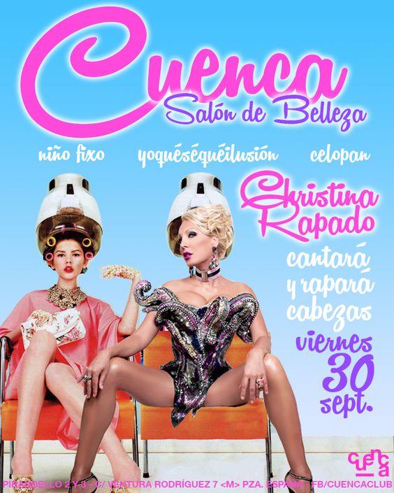 """CHRISTINA RAPADO - CARTEL CONCIERTO """"CUENCA CLUB"""" (2016). http://www.christinarapado.com"""