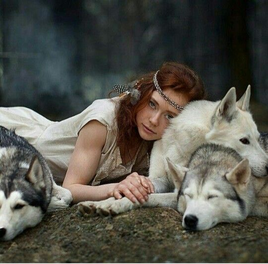 I would love to be in the middle of those adorable and loving wolves!