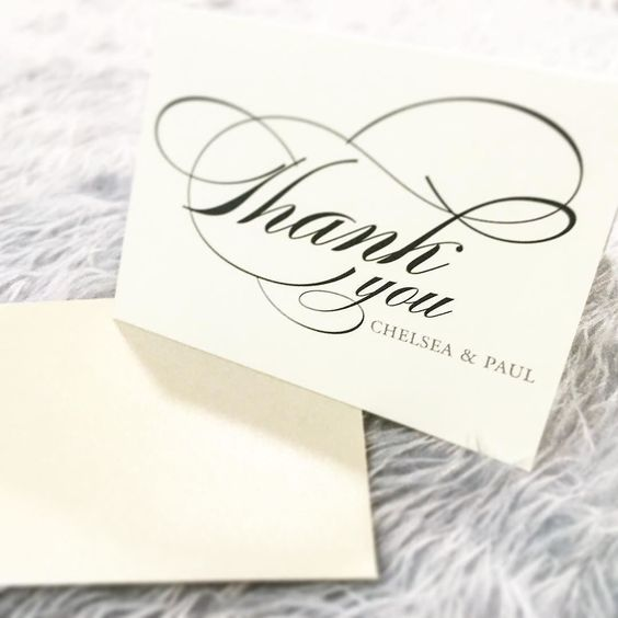 Thank you cards should be an extension of your event. Make yours extra impressive with this elegant and timeless design! . . . #thanks #thankyoucards #wedding #weddingdetails #weddingcard #cards #thankyou #calligraphy #beautifuldesign #gooddesign #invitations #events #eventplanner #weddingplanning #weddingideas #weddinginspiration #jhd #script #elegantwedding #classic #instalove #instawedding #weddingplanner #etsy #pinterest #etsydesigner #invitationdesigner #graphicdesign #design…
