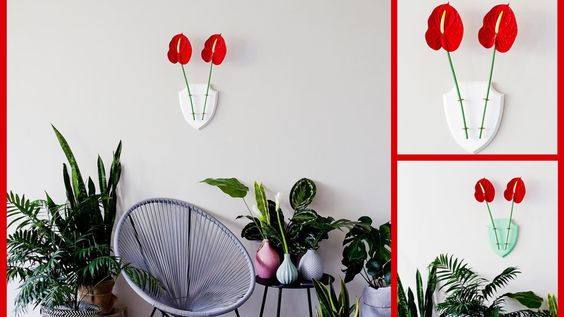 Flowers in the bedroom impossible? Think again. Enjoy flowers first thing in the morning with this innovative and space saving designs!