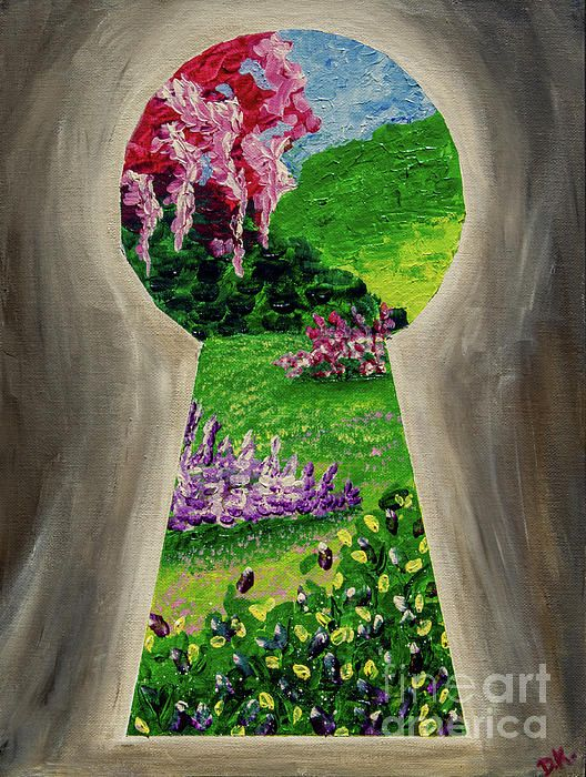 This Is An Abstract Acrylic Painting As A Picturesque Garden Comes To Life Through A Small K Canvas Art Painting Painting Art Projects Easy Landscape Paintings