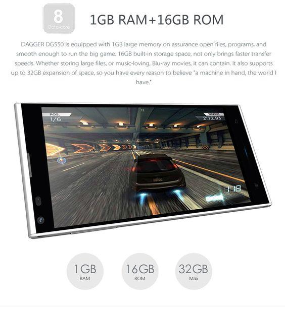 Versandkostenfrei aus DE DOOGEE DG550 MTK6592 1.7GHz Octa Core 5.5 Zoll HD OGS Display Android 4.4 3G Smartphone