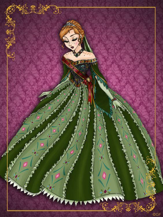 """O ilustrador italiano Gabriele, resolveu transformar as princesas Disney em rainhas na série de ilustração """"Disney Queen Designer Collection"""". O resultado ficou sensacional e os vestidos magníficos. Que coisa linda! Eu amei o estilo medieval dos vestidos, coroas e maquiagens. Eu estou encantada e apaixonada pelo vestido da Bela, que é o mais bonito e …:"""