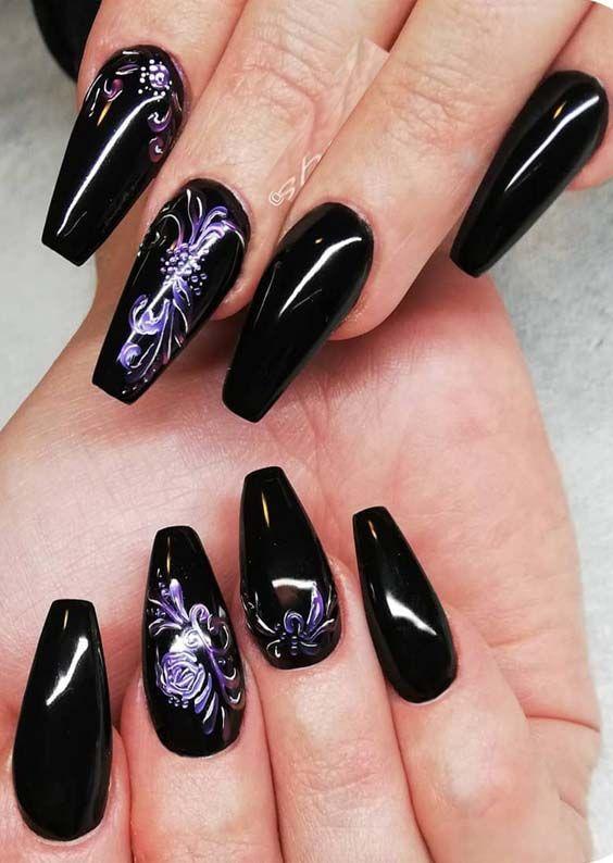 Fantastic Black Nail Art Designs For Women In 2019 Black Acrylic