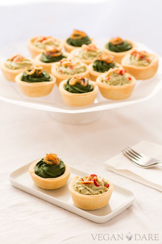 Broccoli and spinach canapes vegan dare potluck at oh for Vegetarian canape