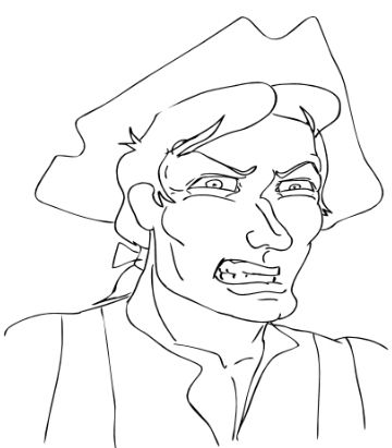 "Brom Bones (Drawn by Doug Hammel)  ""Devil take that Schoolmaster!"""