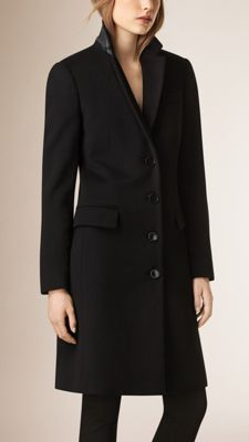 Tailored Wool Cashmere Coat Black | Coats Mantels and Wool