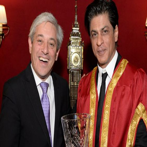 IN 2014, SRK was Honoured with Global Diversity Award at the State Room of Britain's House of Commons. Britain's Parliament honoured the King Khan.