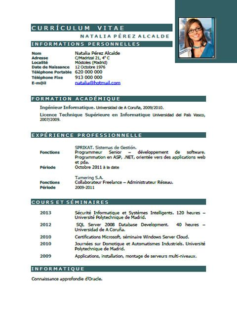 3 Caracteristicas Del Curriculum Vitae Modelo De Curriculum Vitae