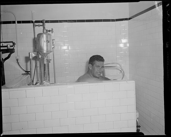 Ted Williams - whirlpool bath