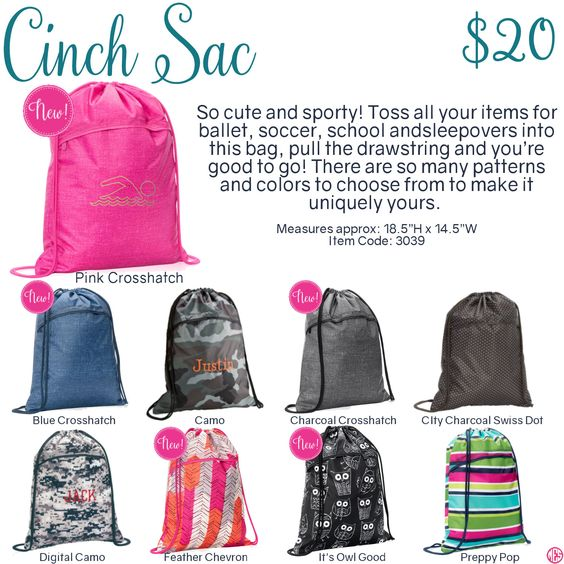 Cinch Sac by Thirty-One. Fall/Winter 2016. Click to order. Join my VIP Facebook…