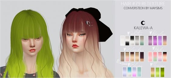 Hair #79 Re-texture at Kalewa-a via Sims 4 Updates
