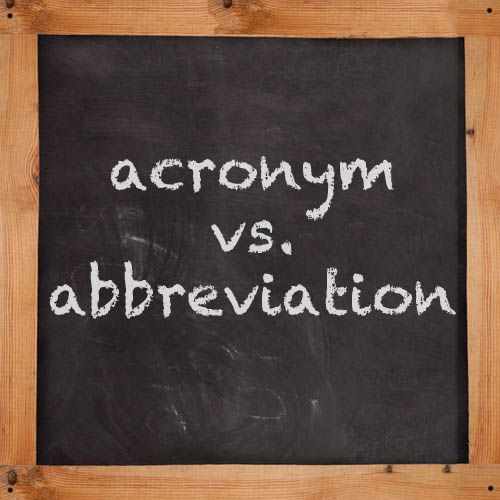 Abbreviations acronyms and initialism
