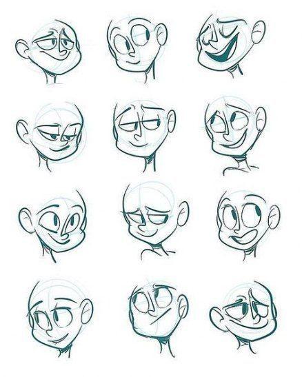 Referencias Para Dibujar Rostros De Dibujos Animados Arte De Historietas Bocetos De Dibujos Animados